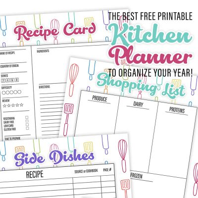 The Best Free Printable Kitchen Planner To Organize Your Year
