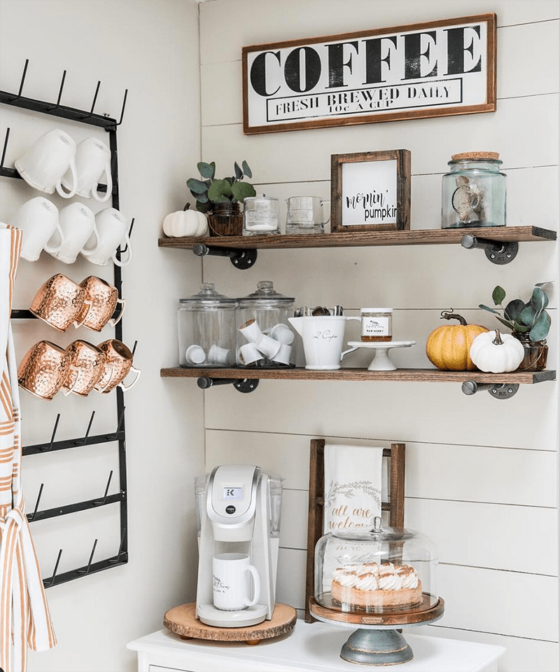 The Best Diy Farmhouse Coffee Bars That Will Perk You Up The Cottage Market