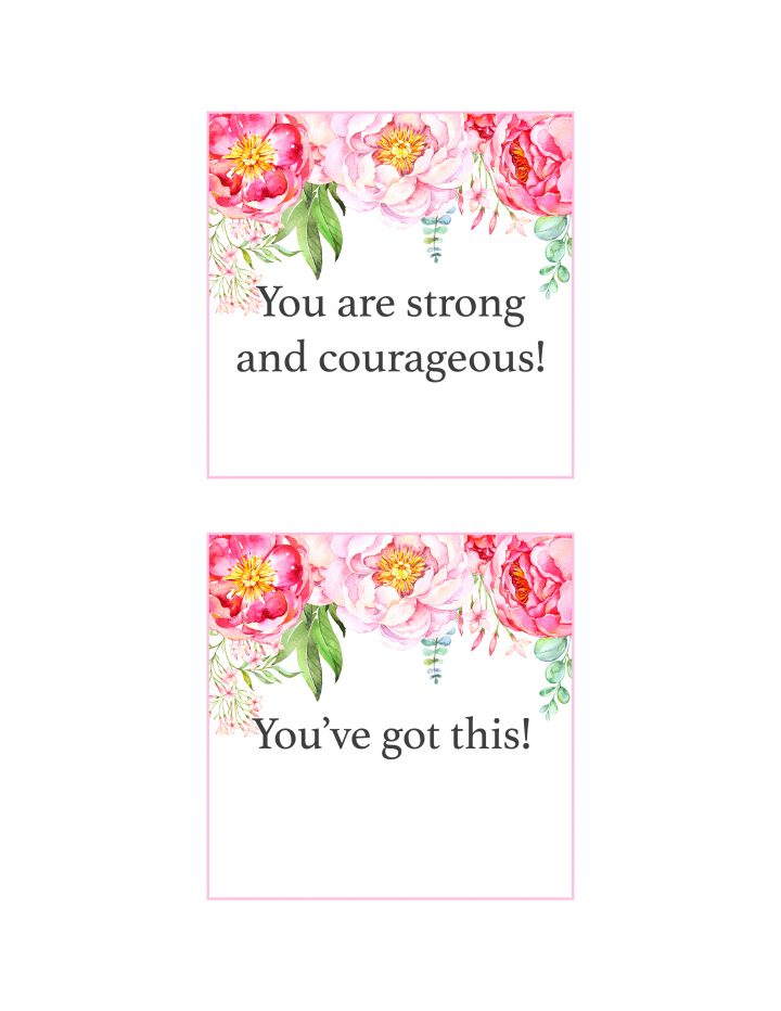 Free Printable Floral Affirmation Cars To Put a Positive Spin on Your Year are waiting to be printed! Free Printable Affirmation Cards are fun to share!