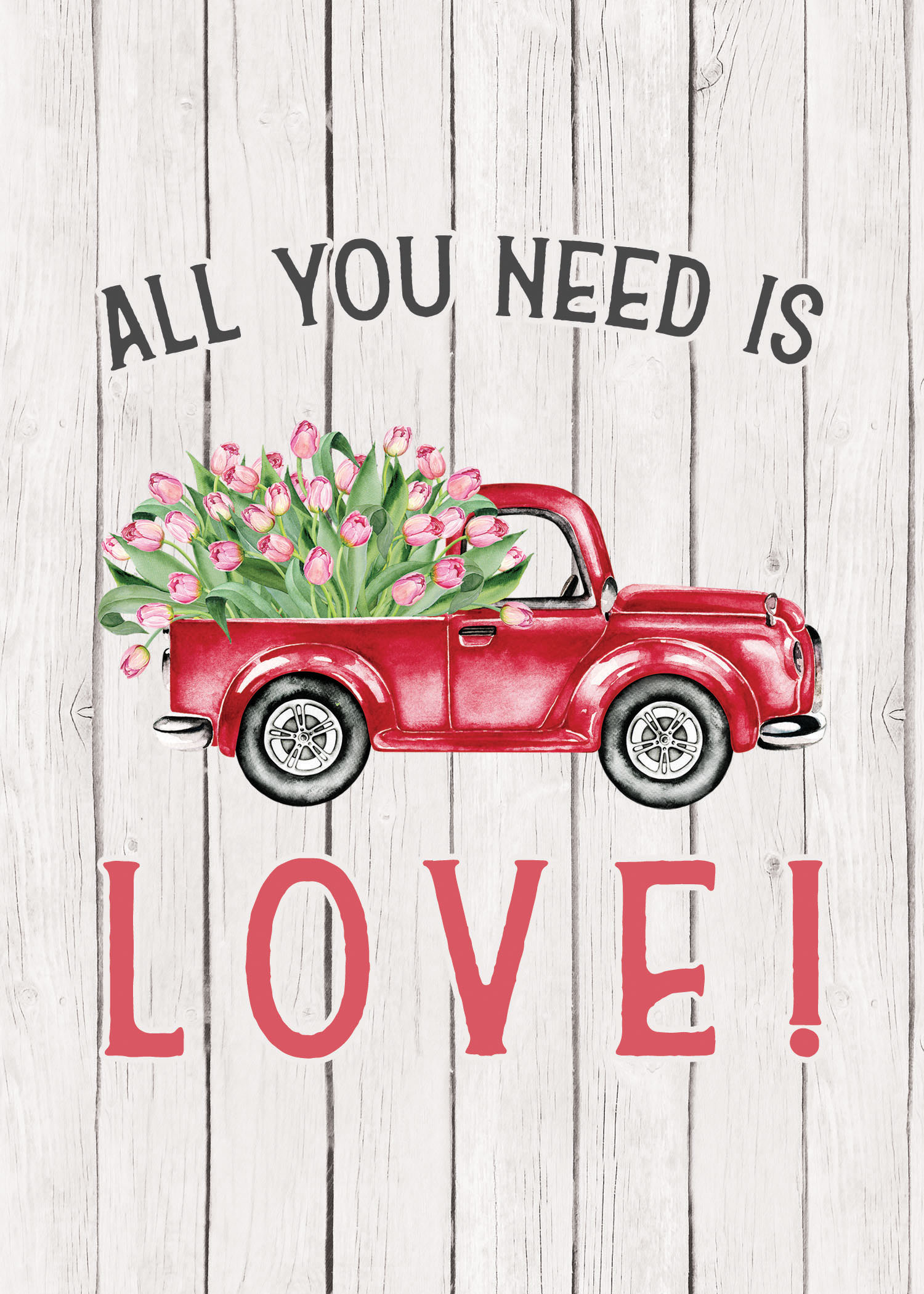 Free Printable Farmhouse Flower Truck Wall Art