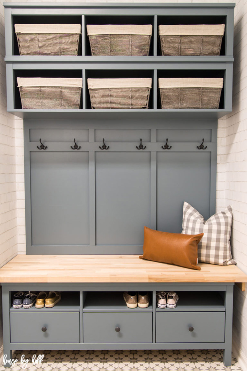 A fabulous IKEA Hack Mudroom you can make yourself