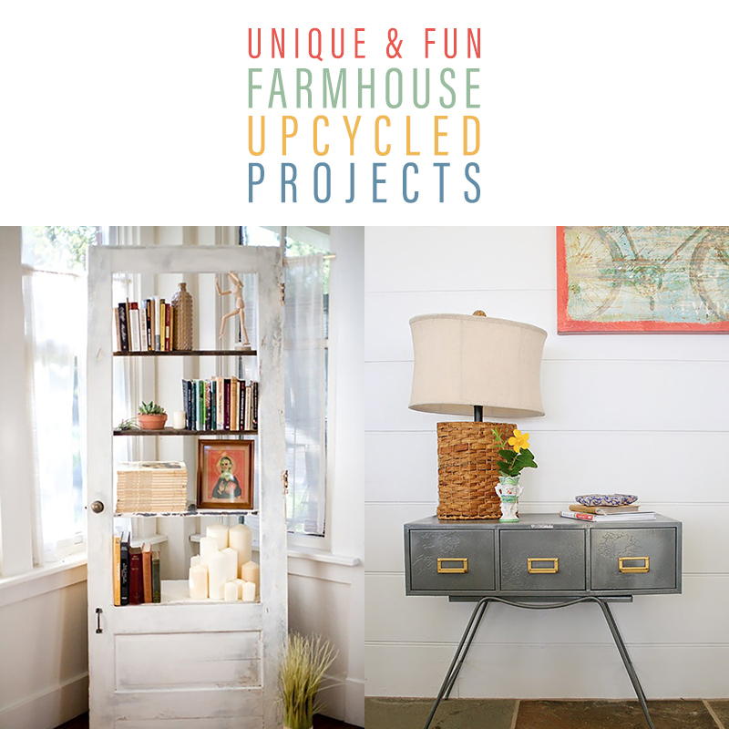 Unique and Fun Farmhouse Upcycled Projects are waiting for you to explore. They will give you tons of ideas and inspiration to create!