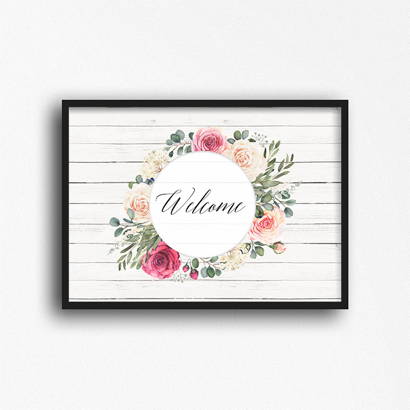 Free Printable Farmhouse Welcome Spring Wall Art is waiting for you to print and hang on your gallery wall or maybe put in your Spring Vignette!