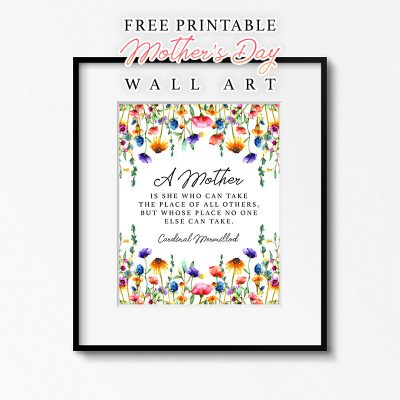 Free Printable Mother's Day Wall Art