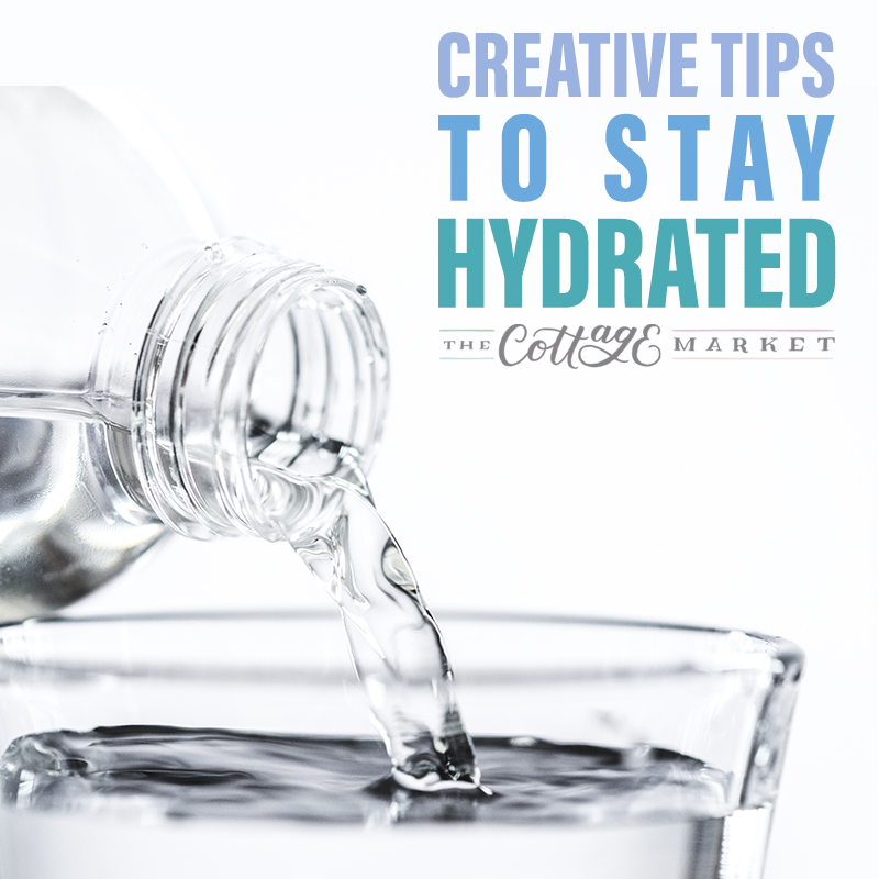 These Creative Tips To Stay Hydrated will help you stay happy and healthy. We all have to drink our water but no one said it had to be boring!