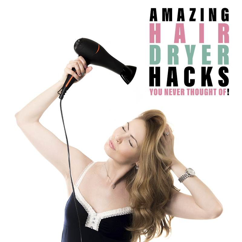 Amazing Hair Dryer Hacks You Never Thought Of are waiting for you! Check them out and I be you will be using some of them really soon! Quick and Easy!