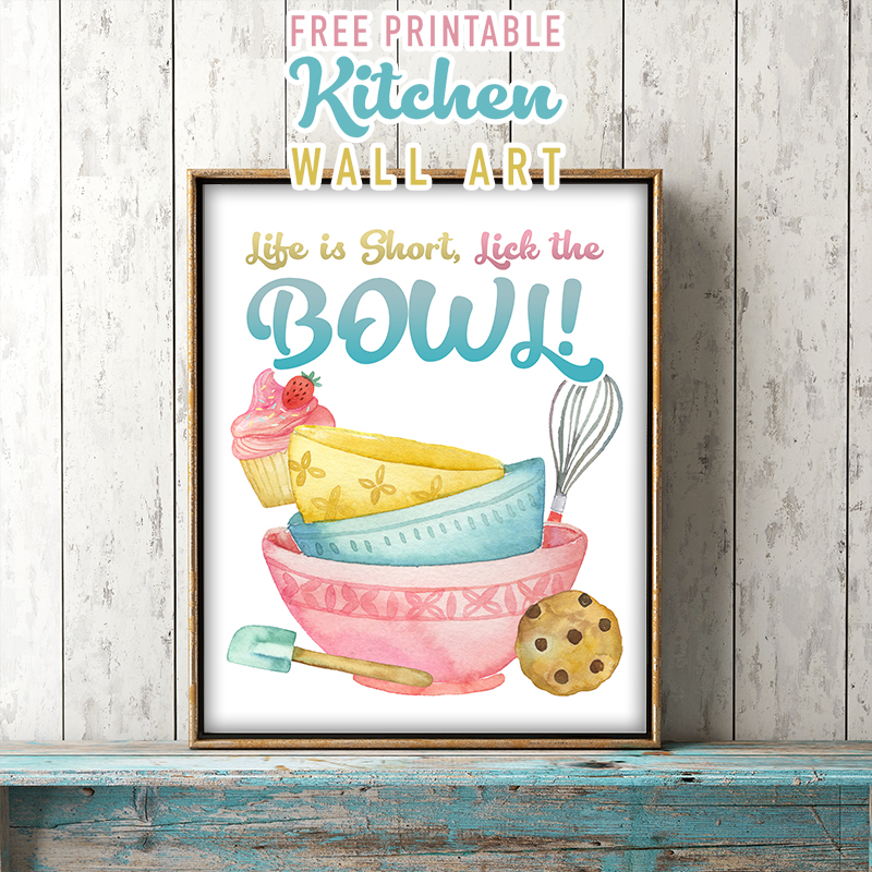 Fabulous And Free Printable Kitchen Wall Art The Cottage Market
