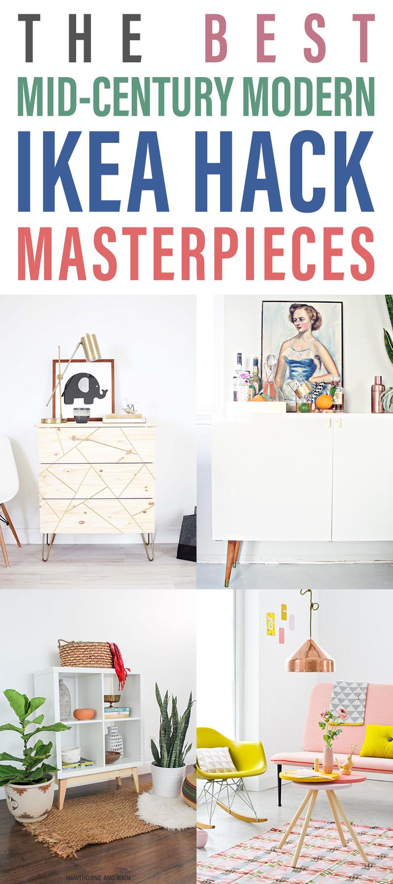 12 Stunning Mid Century Modern IKEA Hacks  The Cottage Market