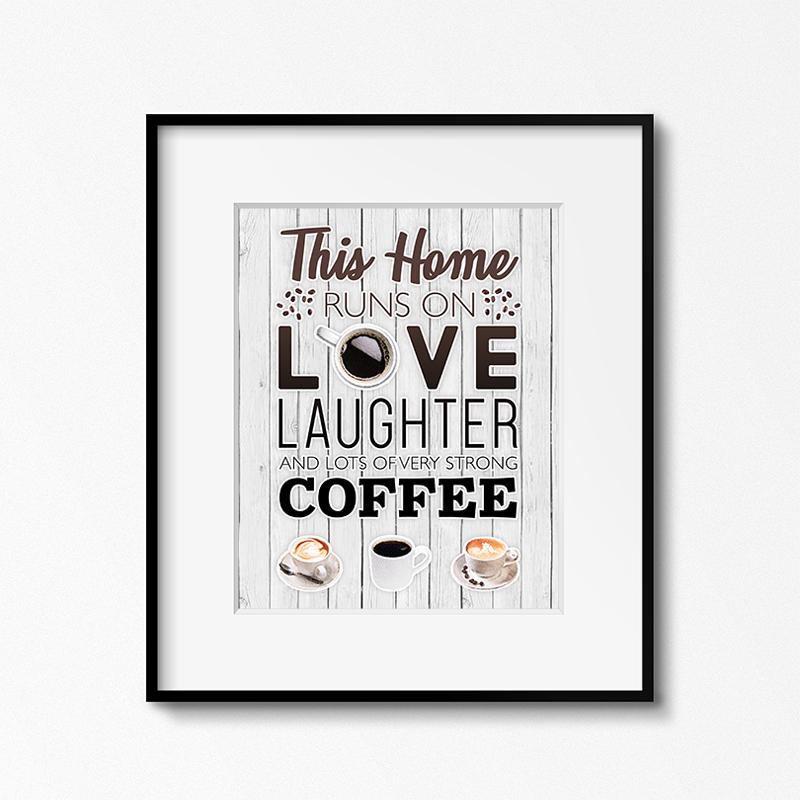 Free Printable Coffee Wall Art Farmhouse Preview