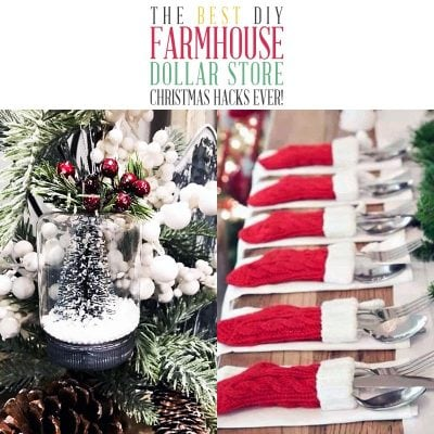 The Best DIY Farmhouse Dollar Store Christmas Hacks Ever!