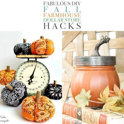 Fabulous DIY Fall Farmhouse Dollar Store Hacks