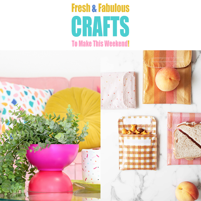 Time for some Fresh and Fabulous Crafts To Make This Weekend. Come and check out some brand new crafts that are hot off the presses! So many colorful DIYS