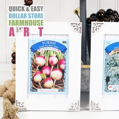 Quick and Easy DIY Dollar Store Farmhouse Art