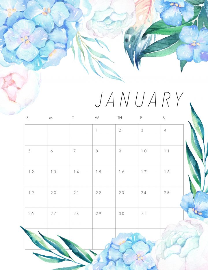 Our Free Printable 2020 Floral Calendar is what it is all about today!  It's one of your favorites and we wanted to get it to you to get a head start!