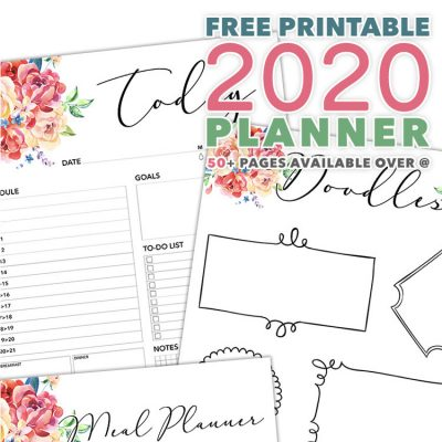 Free Printable 2020 Planner 50 Plus Printable Pages!!!