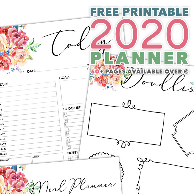 Free Printable 2020 Planner 50 Plus Printable Pages The Cottage Market