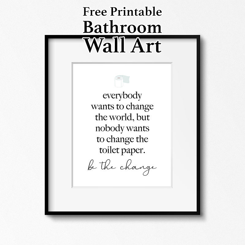 Free Printable Bathroom Wall Art The Cottage Market