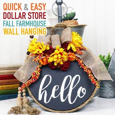 Quick and Easy Dollar Store Fall Farmhouse Wall Hanging