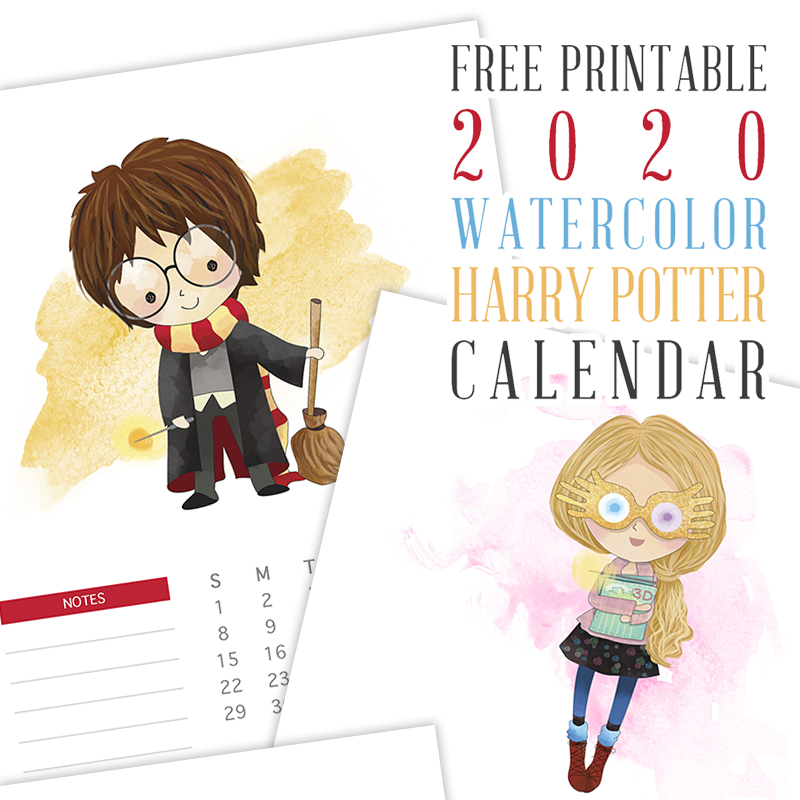 A Free Printable 2020 Harry Potter One Page Calendar is just what you have been looking for!  It's the year at a glance with a touch of wonderful magic!