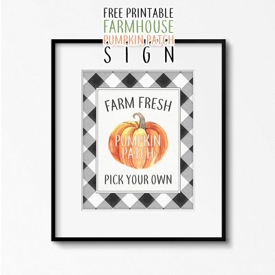 Fresh Free Printable Farmhouse Pumpkin Patch Sign