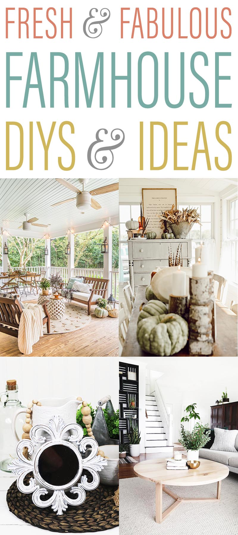Fabulous and Fresh Farmhouse DIYS and Ideas are waiting to inspire you to create. All the newest happenings in the Farmhouse World all in one place to enjoy!