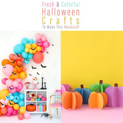 Fresh and Colorful Halloween Crafts To Make This Weekend!