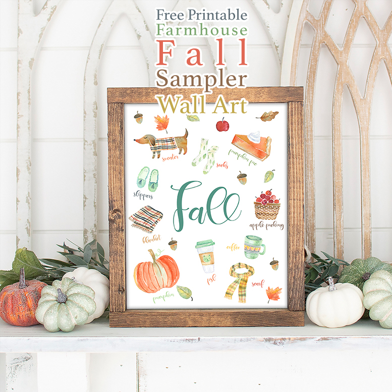 Do you know what your Fall Home Decor needs? This Free Printable Farmhouse Fall Sampler Wall Art! It will perk up your space and make everyone smile!