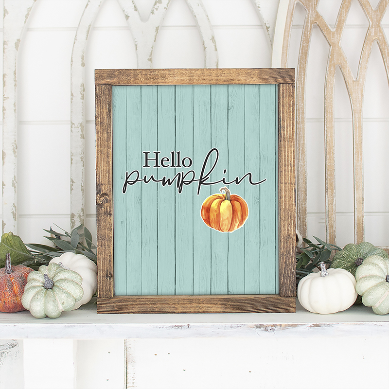 It's time for a piece of Free Printable Pumpkin Wall Art that will bring a touch of happiness any where you display it! Add a little pumpkin to your Fall!