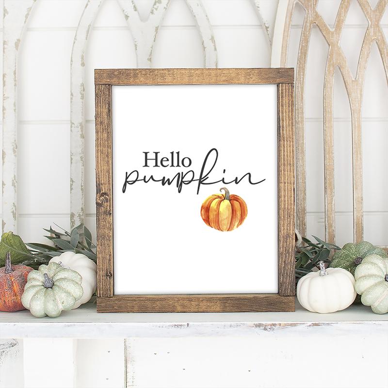 Instant Download Printable Art  hey there pumpkin  Autumn Print {DIGITAL PRINT}