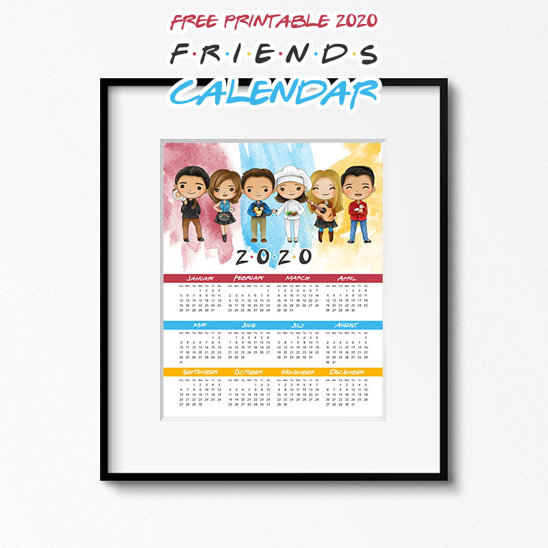 Free Printable 2020 FRIENDS Calendar Time!  Come on over and snatch it up!  It will keep you organized all year long… Guaranteed to make you smile!