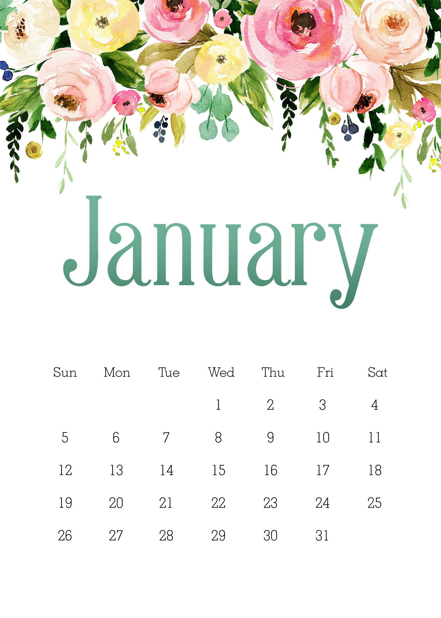 This Free Printable 2020 5X7 Pretty Floral Calendar is just what you need this upcoming year to stay organized.  You get a 12 Page Calendar, Note Page, To Do List and Shopping List!  ENJOY!