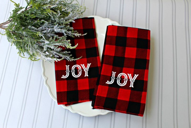 Perfect DIY Farmhouse Buffalo Plaid Decor Projects await you today. They are quick, easy and oh so budget friendly. Truly Farmhouse Delights!
