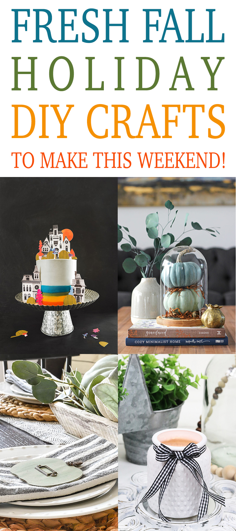 Time for some amazing Fresh Fall Holiday DIY Crafts To Make This Weekend! Tons of creations with Farmhouse Style and some with Trendy Fabulousness!