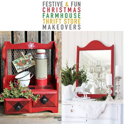 Festive and Fun Christmas Farmhouse Thrift Store Makeovers