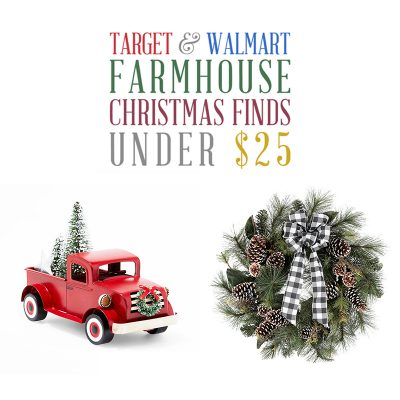 Target & Walmart Farmhouse Christmas Finds Under $25