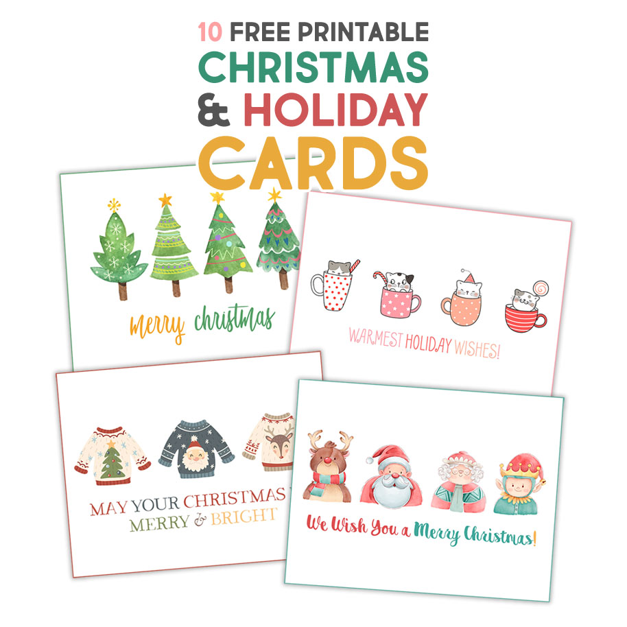 Fabulous Free Printable Christmas Holiday Cards The Cottage Market