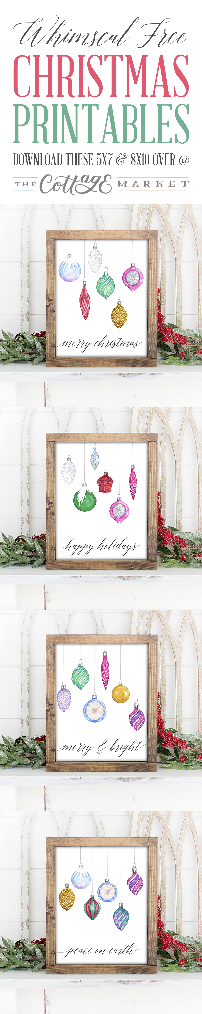 Start your Holiday Decorating with these Pretty and Whimsical Free Christmas Printables we have for your today! They come in 2 sizes for your convenience... ENJOY!
