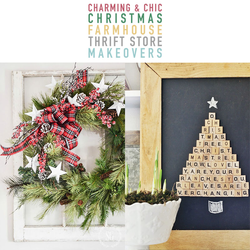 Charming and Chic Christmas Farmhouse Thrift Store Makeovers are going to Inspired you to create your own original diy project that will be amazing!