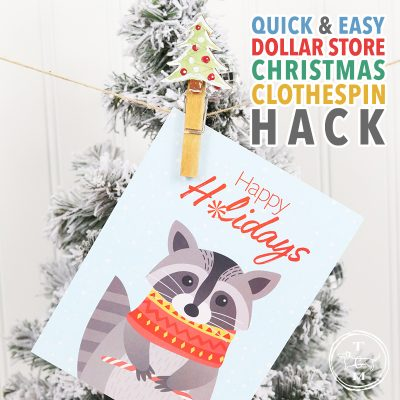 Quick and Easy Dollar Store Christmas Clothespin Hack