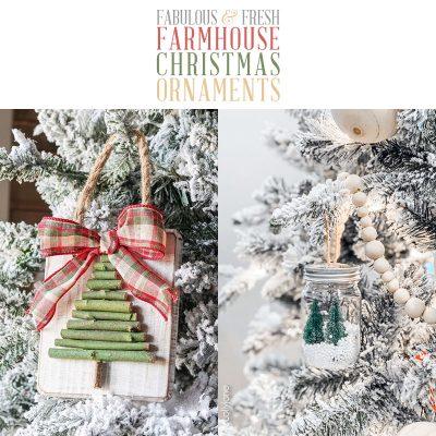 Fabulous Fresh DIY Farmhouse Christmas Ornaments