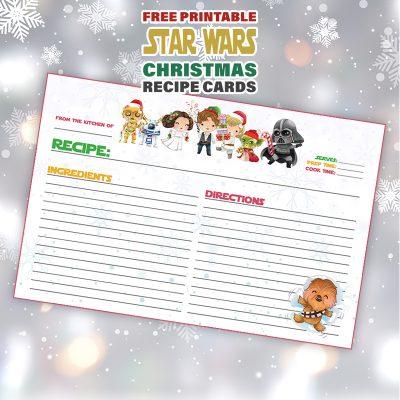 Free Printable STAR WARS Christmas Recipe Card