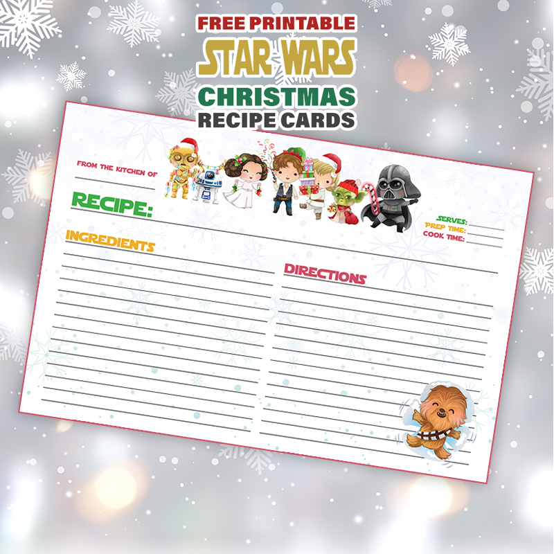 Free Printable Star Wars Christmas Recipe Card is what is on the Free Printable Menu today at The Cottage Market.  Share all your Holiday Special Recipes with Friends and Family!
