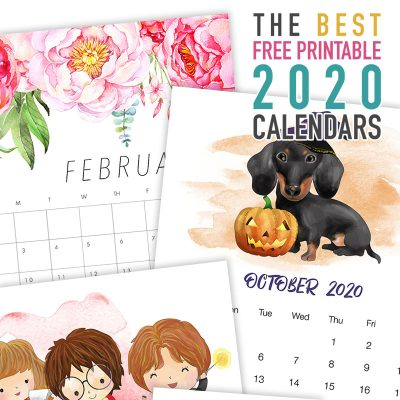 The Best Free Printable 2020 Calendars!