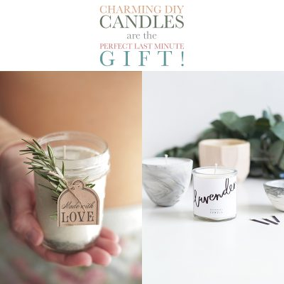 Charming DIY Candles are the Perfect Last Minute Gift!