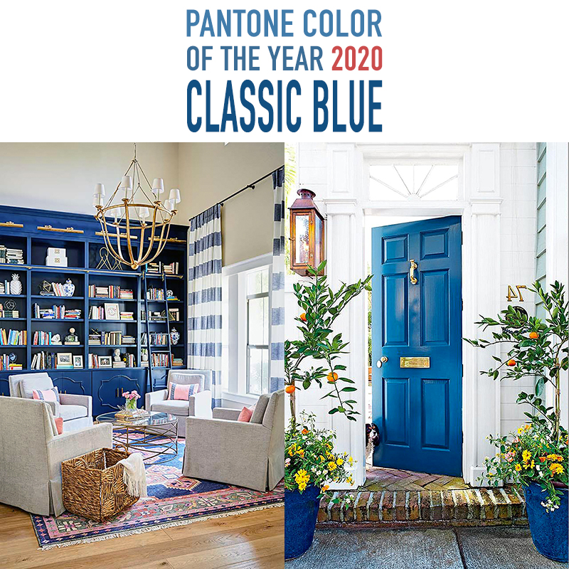 "Let's Take a Look at the Pantone Color of the Year 2020 Classic Blue.  Pantone describes the color as ""a boundless blue evocative of the vast and infinite evening sky."" It's a very calming — anti-anxiety blue."
