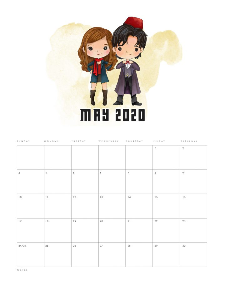 This Free Printable 2020 Doctor Who Calendar is ready and waiting for you to print out! It will get your organized for the entire year to come!