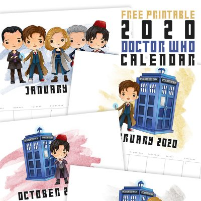 Free Printable 2020 Doctor Who Calendar