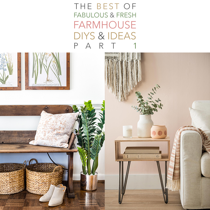 The Best of Fabulous and Fresh Farmhouse DIYS and Ideas are waiting to inspire you to create. A wonderful compilation of the years best!