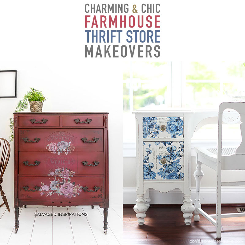 These Charming and Chic Farmhouse Thrift Store Makeovers are going to Inspired you to create your own original diy project that will be amazing!