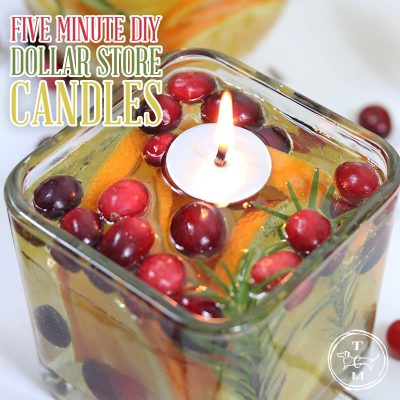Five Minute DIY Dollar Store Candles